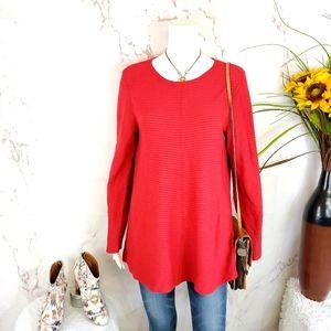 Macy's Alfani wide rib knit sweater tunic